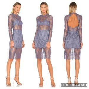 Revolve NBD Carrie Lace Dress in Lilac Ash XS NWT